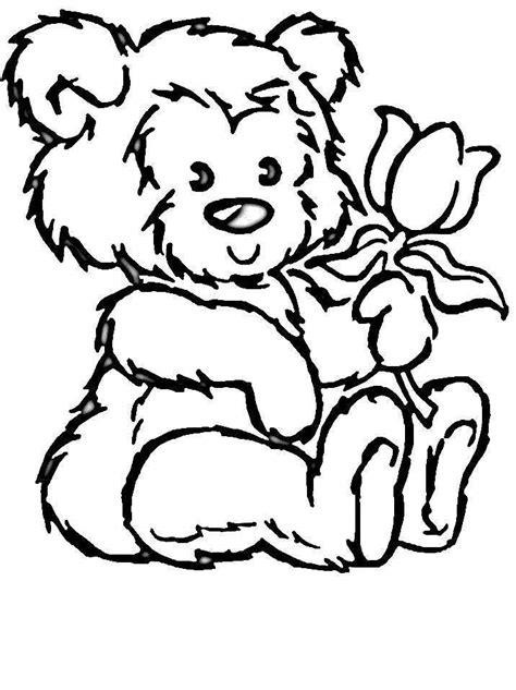 cartoon bear coloring page teddy bear cartoon az coloring pages