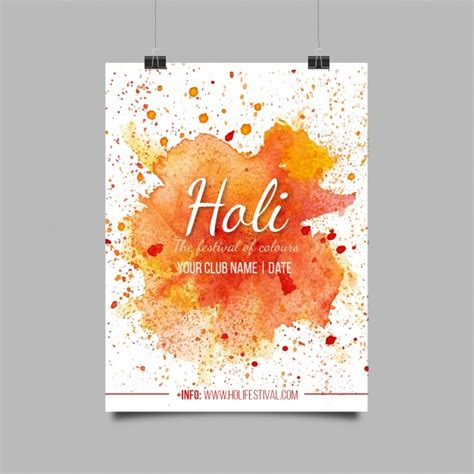 colorful posters colorful poster for holi festival vector free