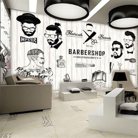Stiker Untuk Usaha Restoran Model 2 dekorasi salon dan barbershop menggunakan mural dan stiker