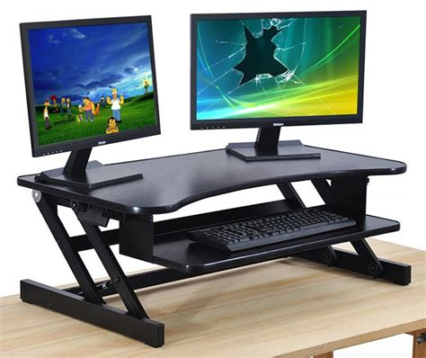 standing desk monitor stand best adjustable standing desks sometimes it s better to