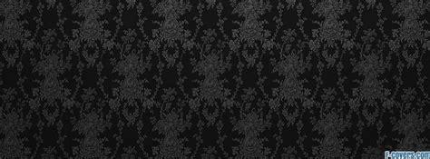 pattern black and gray grey damask pattern facebook cover timeline photo banner
