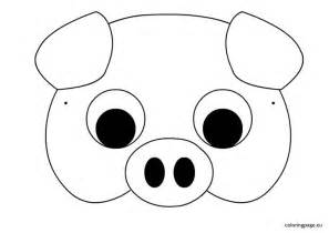 pig mask template carnival