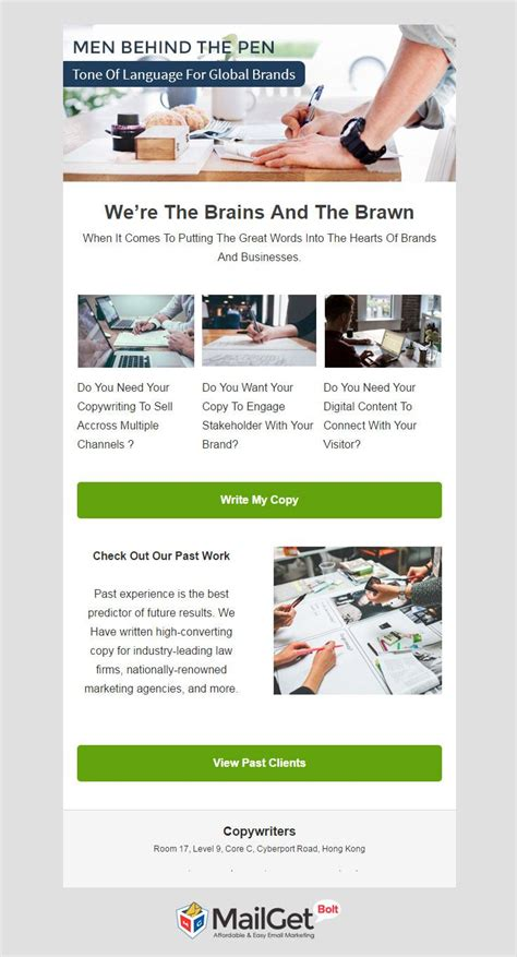 12 Best Author Email Templates 2019 Formget Email Copywriting Templates