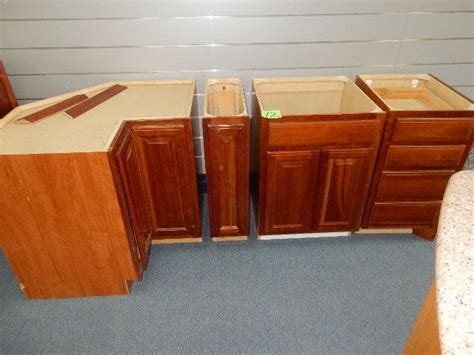 sink lazy susan walnut wood lower cabinets 4 sections sink drawer