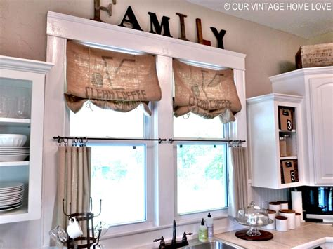 our vintage home inexpensive window treatments and a giveaway