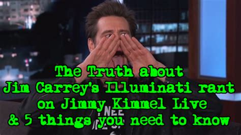 jim carrey illuminati the about jim carrey s illuminati rant on jimmy