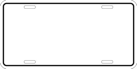 blank phlet template best photos of license plate outline blank license plate