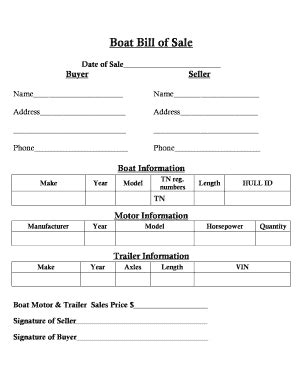 tennessee bill of sale for a boat boat bill of sale tn edit fill print download best