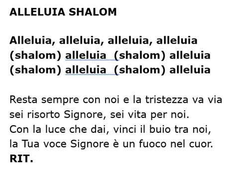 alleluia ed oggi ancora testo eleno testi canzoni 171 parrocchia di san lorenzo da brindisi