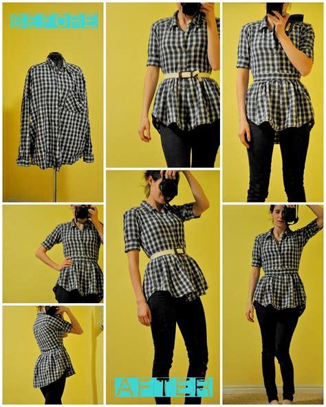 how to make a shirt how to make a peplum blouse from a shirt alldaychic