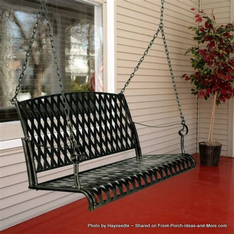 porch swing metal a metal porch swing is for marking memories on your porch