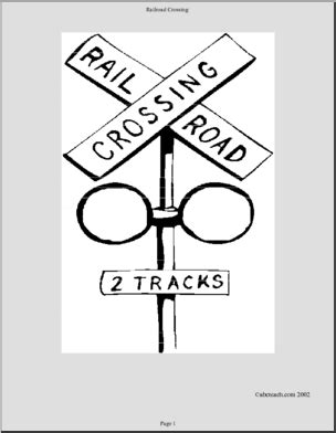 train crossing coloring page coloring page railroad crossing abcteach