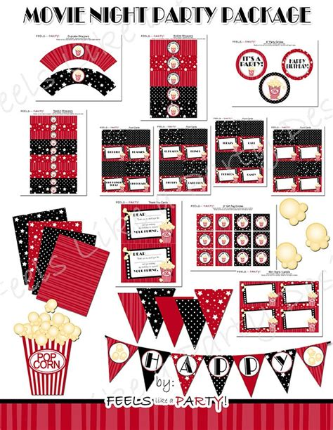 printable hollywood decorations 140 best movie party ideas images on pinterest movie