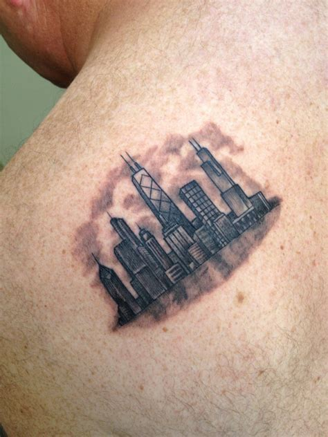 la ink chicago skyline tattoo by melissa khouri of high