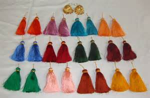 Chandelier Online Shopping Punjabi Lotan Jhumka Set Of 12 Mulicolor Phuman Tassles