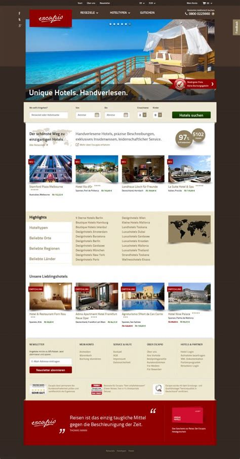 design inspiration hotel website escapio boutique hotels design hotels and small luxury