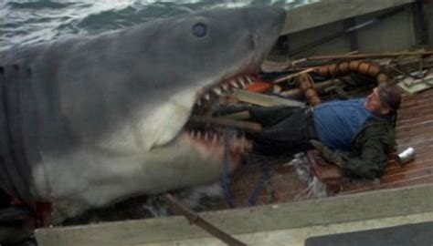 jaws boat death scene quint kicking