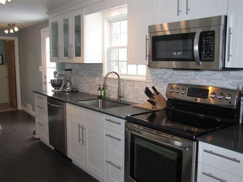 glamorous kitchen cabinet colors  black appliances