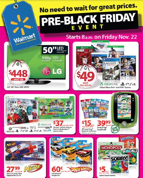 black friday prices at walmart preview walmart s pre black friday event starts 8 a m