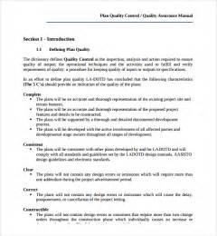 quality plan template sle quality plan template 8 free documents