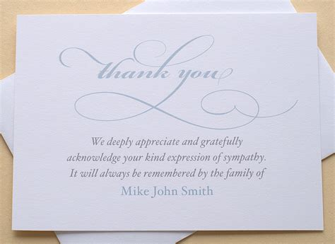 thank you sympathy card personalized set of 36 by zdesigns0107
