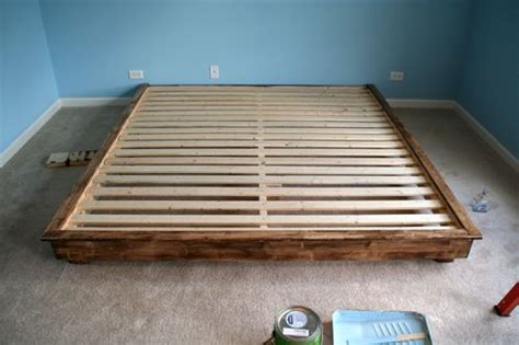 build a king size bed build your own king size platform bed frame quick