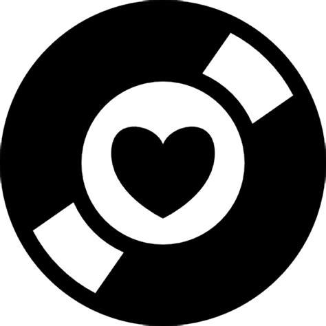 imagenes simbolos de musica s 237 mbolo coleccionista de m 250 sica de un disco con un coraz 243 n
