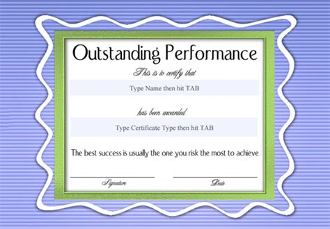 outstanding certificate template recognition certificate template 7 free