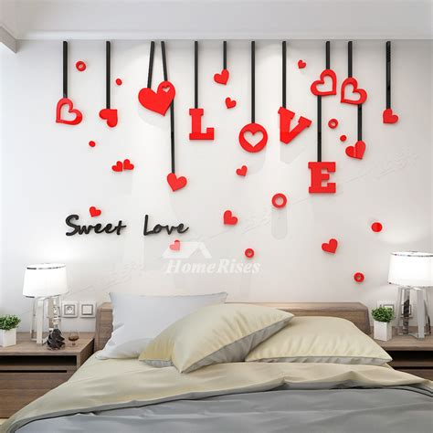 love wall decals acrylic  living room  adults living