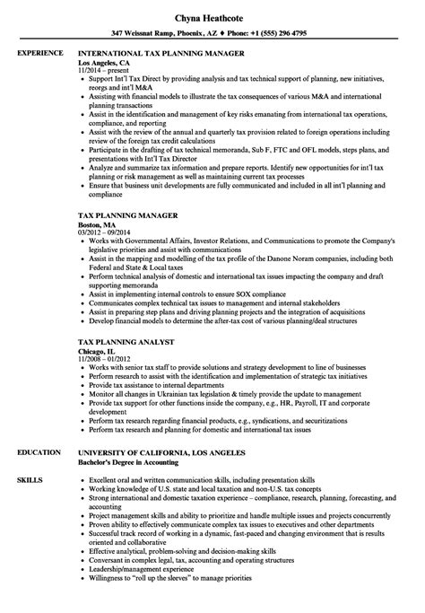 tax analyst sle resume winning cover letter sles