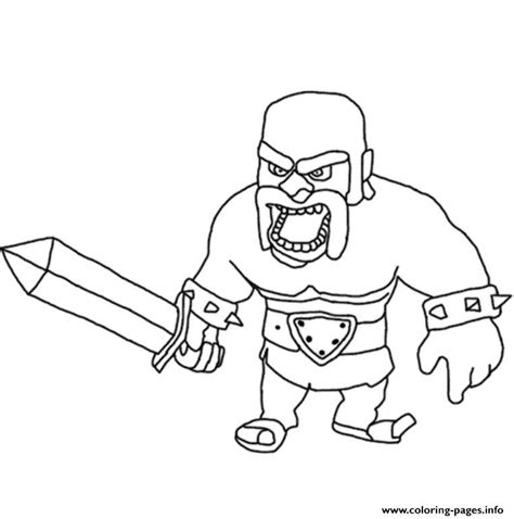 barbarian king coloring pages barbarian king 3 clash of clans coloring pages printable