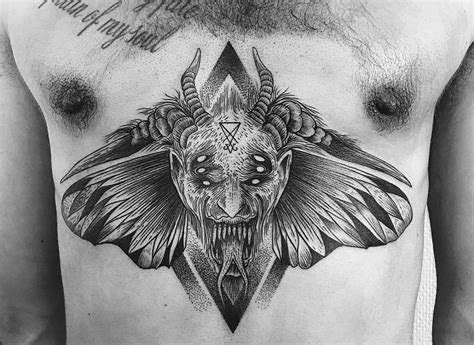 animals tattoo with demon and devil