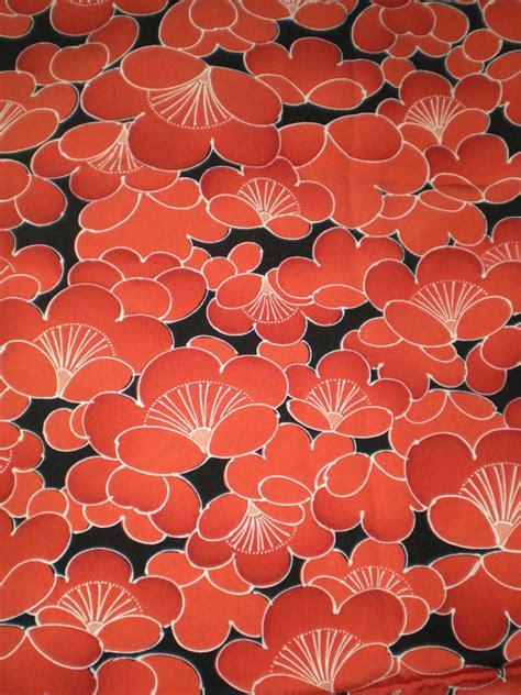 vintage pattern material vintage japanese silk kimono fabric plum blossom burnt