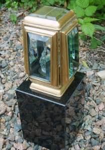 bronze solar lights headstones amp gravestones by stone tec