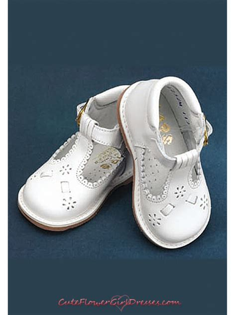 white floral detail toddler shoes