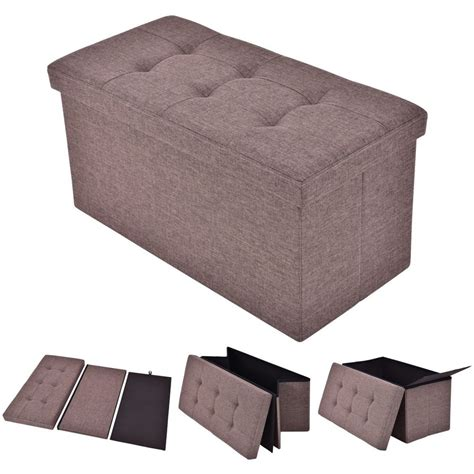 where can i buy an ottoman folding rect ottoman bench storage stool box footrest
