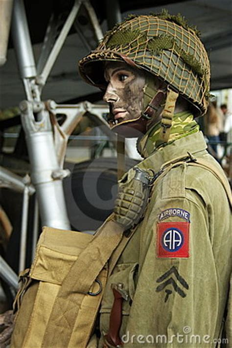 wwii american paratrooper royalty  stock photography