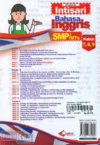 Buku Smp Bahasa Inggris To The Point bukukita rangkuman intisari bahasa inggris smp mts