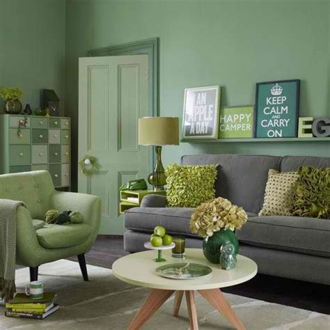 Gray And Green Living Room by Green And Grey Living Room Home Pinterest