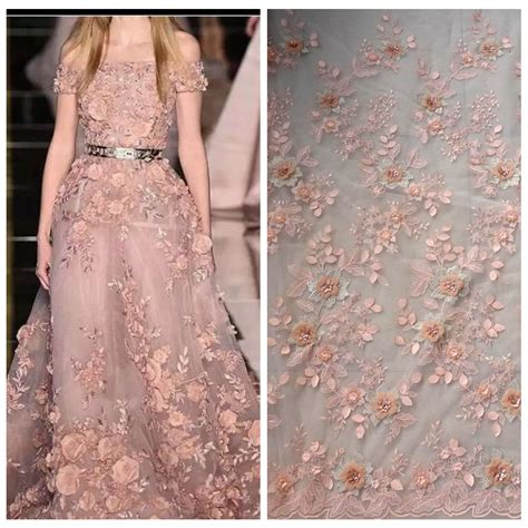Ohome Pajangan 3d Poly Dress In Blue Decor Ev Sp 3914 B 1 yard 1 yard new white beige light blue pink 3d flowers bridal evinging show dress
