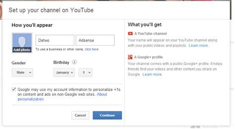 cara membuat youtube adsense cara daftar google adsense melalui youtube belajar bersama