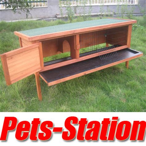 Rabbit Hutch Tray x large rabbit hutch guinea pig cage w pull out tray ebay