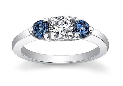 lab grown blue diamonds white center 3