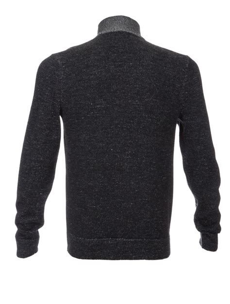 Three Button Knit Sweater Black Product Code Fzn3452 theory byron merino wool 3 button sweater in black for lyst