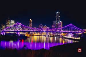lights brisbane brisbane s story bridge lights change colour matt warrell