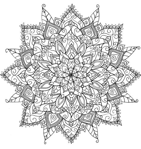 coloring pictures of adults floral mandala by welshpixie on deviantart
