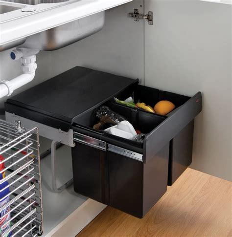kitchen bin ideas the wesco shorty waste bin with two bin