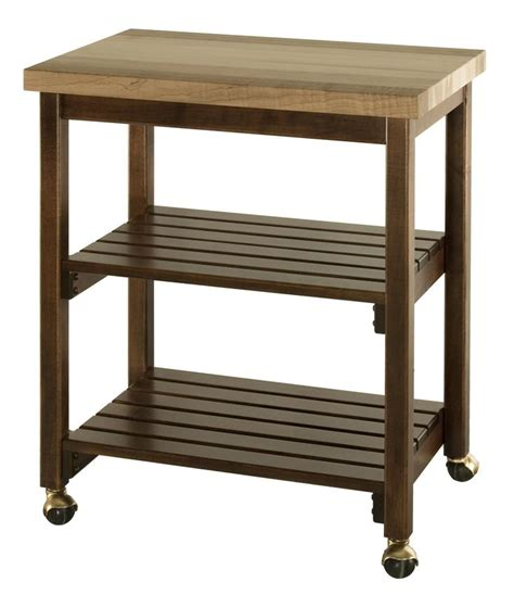 cherry wood dining room serving cart manufactured by amish hardwood microwave serving cart with butcher block