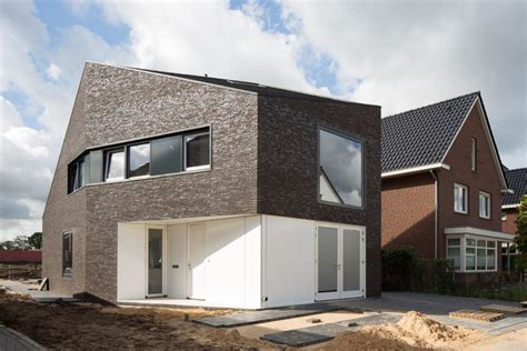 modern brick homes modern family home in the netherlands tradition with a