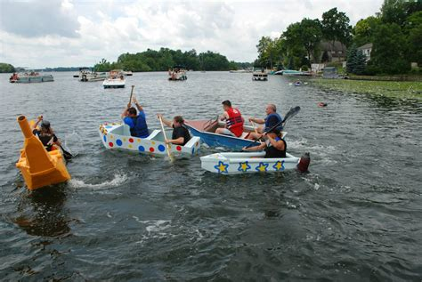 cardboard boat race white lake mi cardboard boat race oakland county lakefront home for